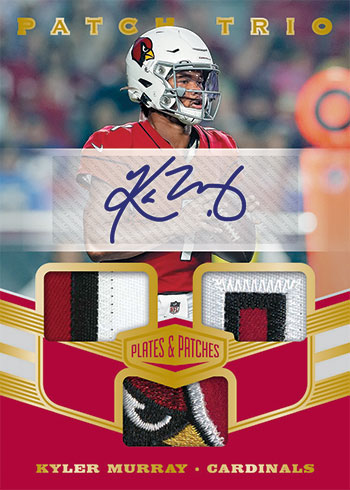 2019 Panini Plates and Patches Football Patch Trio Autograph