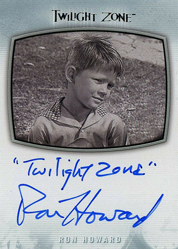 2019 Rittenhouse Twilight Zone Rod Serling Edition Ron Howard Inscription Autograph