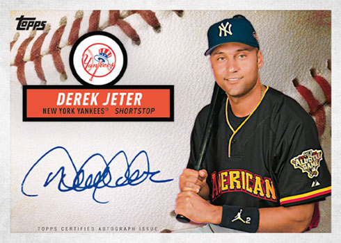 2019 Topps Brooklyn Collection Baseball Derek Jeter Autograph