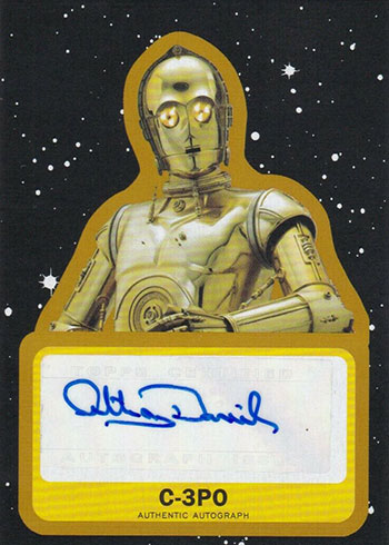 2019 Topps Star Wars: Journey to the Force Awakens Anthony Daniels Autograph Gold
