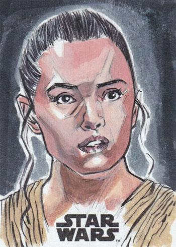 2019 Topps Star Wars: Journey to the Force Awakens Sketch Card Matthew Stewart