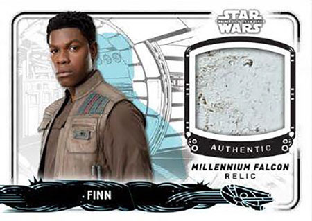 2019 Topps Star Wars Rise of Skywalker Millennium Falcon Relic Card