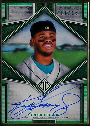 2019 Topps Transcendent Baseball Ken Griffey Jr. Autographs Emerald