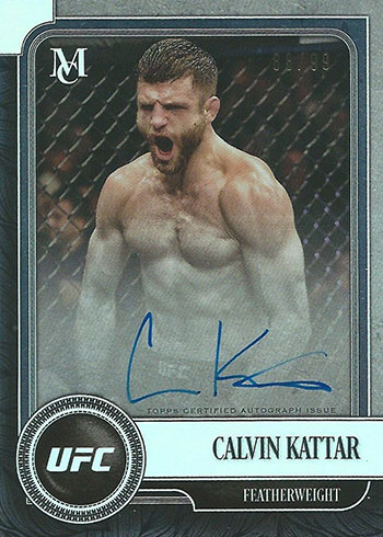2019 Topps UFC Museum Collection Museum Autographs Calvin Kattar