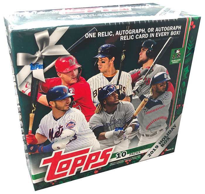 2019 Topps Walmart Holiday Baseball Box