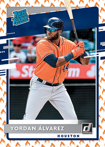 2020 Donruss Baseball Rated Rookie On Fire