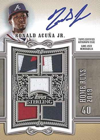 2020 Topps Sterling Baseball Sterling Swings Autograph Relic