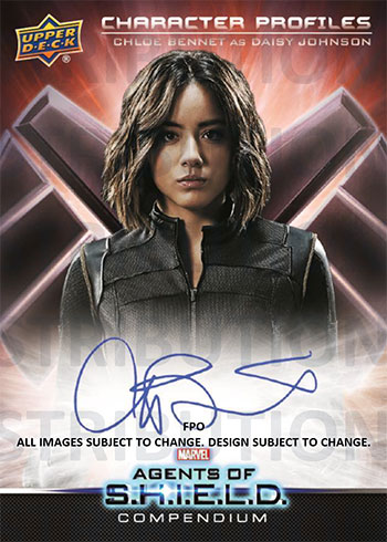 Upper Deck Agents of SHIELD Compendium Character Profiles Autographs Mock-Up