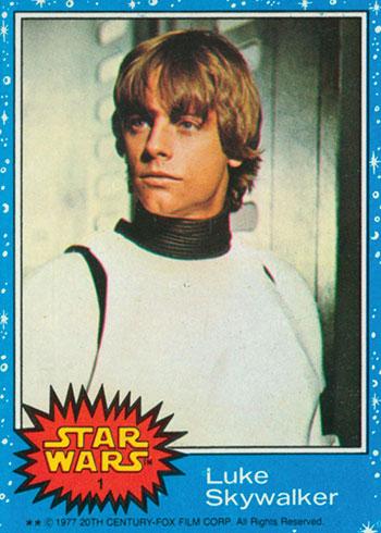 1977 Topps Star Wars 1 Luke Skywalker