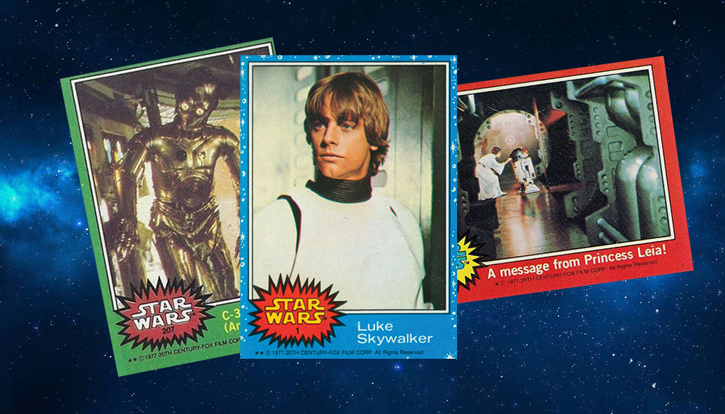 Topps Star Wars 1977 Blue Card Number 53