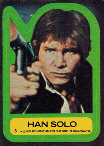 1977 TOPPS STAR WARS STICKERS YOU PICK SERIES 4 34 35 36 37 39 40 41 42 43 44