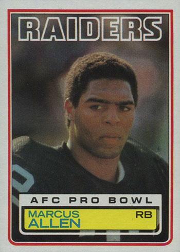 1983 Topps Marcus Allen RC