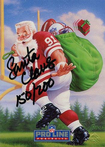 1991 Pro Line Portraits Santa Claus Autograph 200