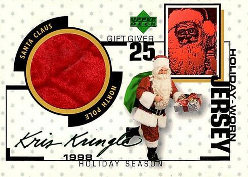 1998 Upper Deck Holiday-Worn Jersey Kris Kringle