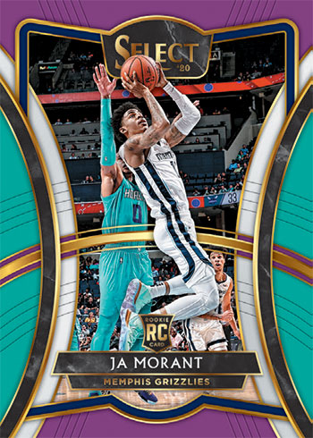 2019-20 Panini Select Basketball Premier Level Tri-Color Prizm Ja Morant