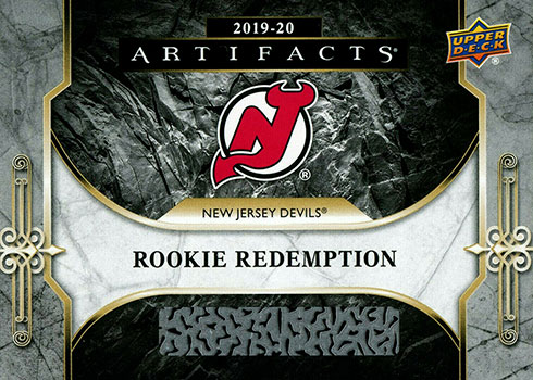 2019-20 Upper Deck Artifacts Hockey Rookie Redemptions New Jersey Devils