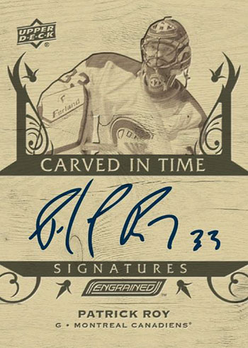 2019-20 Upper Deck Engrained Hockey Carved in Time Signatures