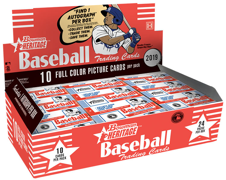 2019 Bowman Heritage Baseball Box