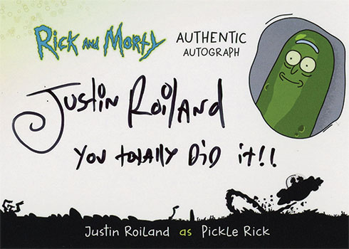 2019 Cryptozoic Rick and Morty Season 3 Autographs Justin Roiland Pickle Rick