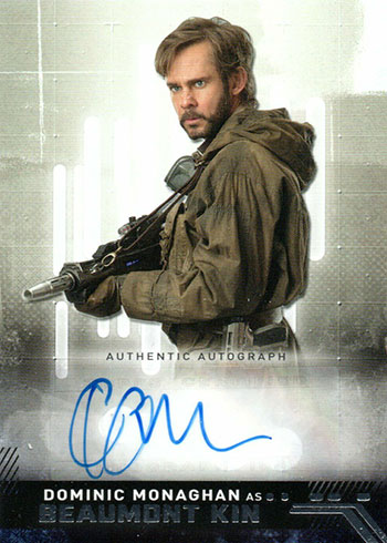 2019 Topps Star Wars Rise of Skywalker Autographs Dominic Monaghan