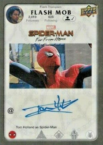 2019 Upper Deck Spider-Man Far From Home Flash Mob Autographs Tom Holland