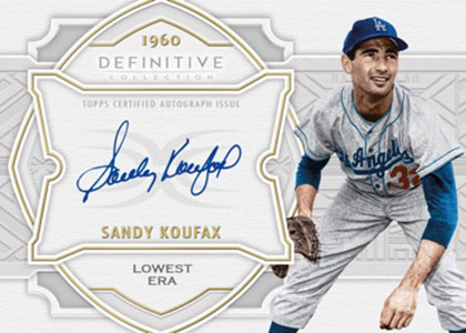 2020 Topps Definitive Collection Baseball Defining the Decade