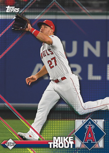 2020 Topps MLB Stickers Mike Trout