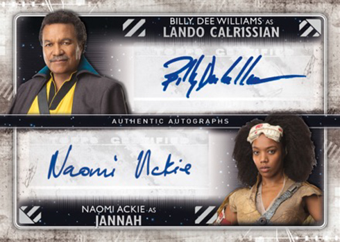 2020 Topps Star Wars: Rise of Skywalker Series 2 Dual Autograph
