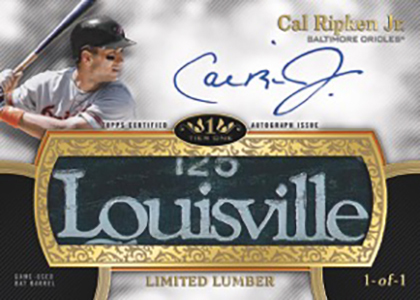2020 Topps Tier One Baseball Limited Lumber Autographs