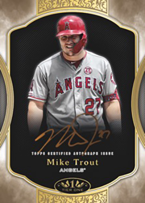 2020 Topps Tier One Baseball Tier One Autographs