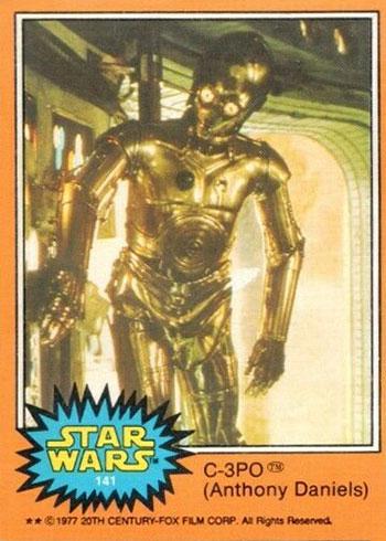 1977 O-Pee-Chee Star Wars 141 C-3PO (Anthony Daniels)