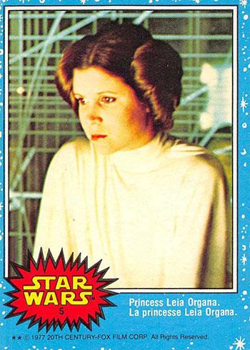 1977 O-Pee-Chee Star Wars 5 Princess Leia