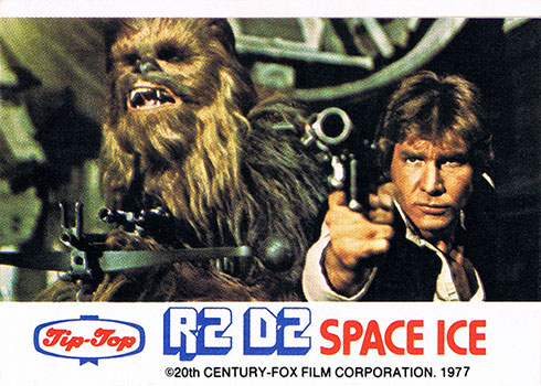 1977 Tip Top Star Wars R2-D2 Space Ice Chewbacca and Han Solo