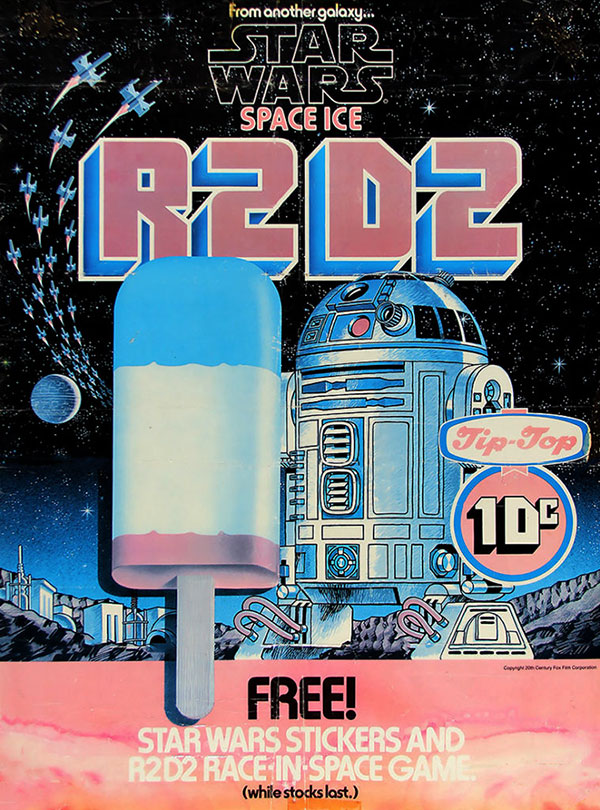 1977 Star Wars Tip Top Ice Cream Space Ice Poster