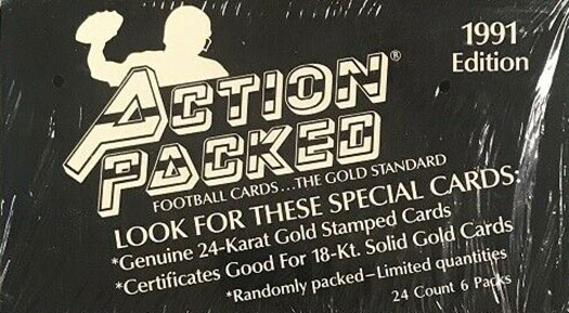 1991 Action Packed Football Box