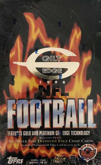 1996 Topps Gilt Edge Football Box