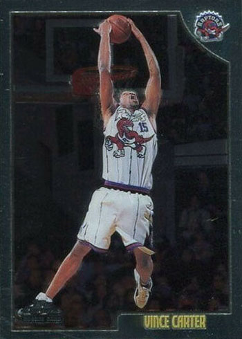 1998-99 Topps Chrome Vince Carter Rookie Card
