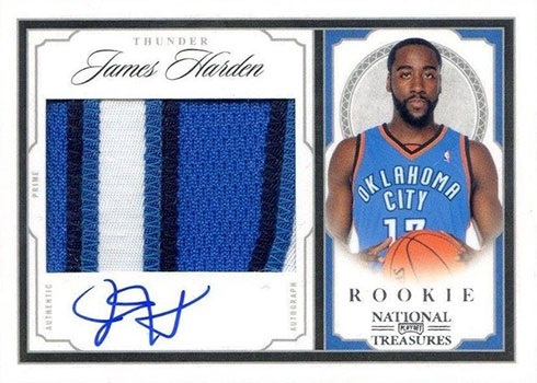 2009-10 Playoff National Treasures James Harden RC