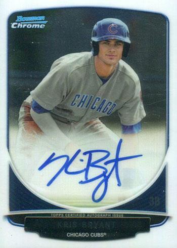 2013 Bowman Chrome Draft Kris Bryant Autograph