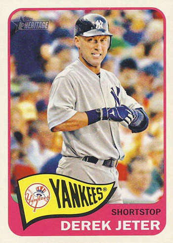 2014 Topps Heritage Throwback Variation Derek Jeter
