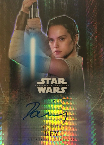 2016 Topps Star Wars The Force Awakens Chrome Prism Autograph Daisy Ridley
