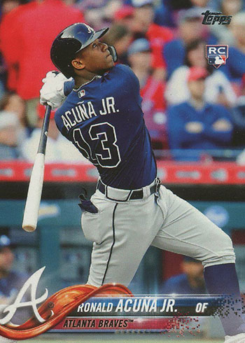 2018 Topps Ronald Acuna Jr. Bat Down Variation