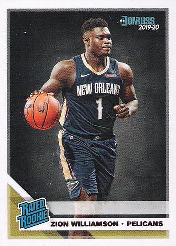 2019-20 Donruss Zion Williamson Rookie Card