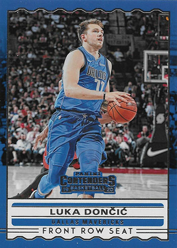 2019-20 Panini Contenders Basketball Front Row Seat Luka Doncic
