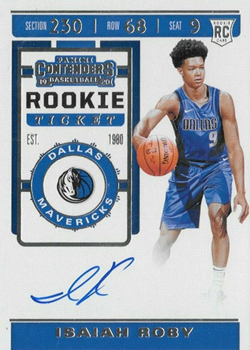 2019-20 Panini Contenders Basketball Isaiah Roby RC Autograph