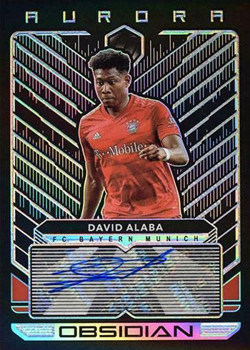 2019-20 Panini Obsidian Soccer Aurora Autographs David Alaba