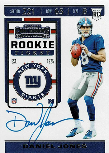 2019 Panini Contenders Football Short Prints Daniel Jones