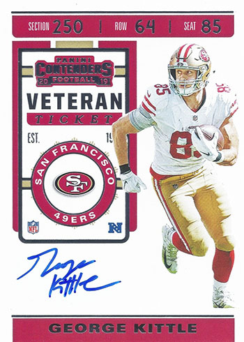 2019 Panini Contenders Football Short Prints George Kittle Veteran Ticket