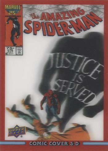 2019 Upper Deck Marvel 80th Anniversary 3D Lenticular Cover Spider-Man