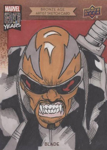 2019 Upper Deck Marvel 80th Anniversary Sketch Cards Bronze Age Blade